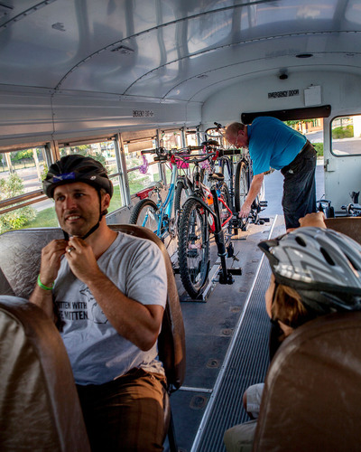 Northwest Michigan BATA's successful Bike-n-Ride program - the second of its kind in the nation - is gaining traction with locals and tourists alike. BATA hopes that other places will roll with its innovative way of moving riders. www.bata.net.  (PRNewsFoto/BATA)