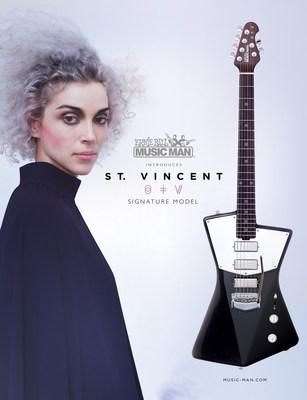 Ernie Ball Music Man Announces New St. Vincent Signature Guitar