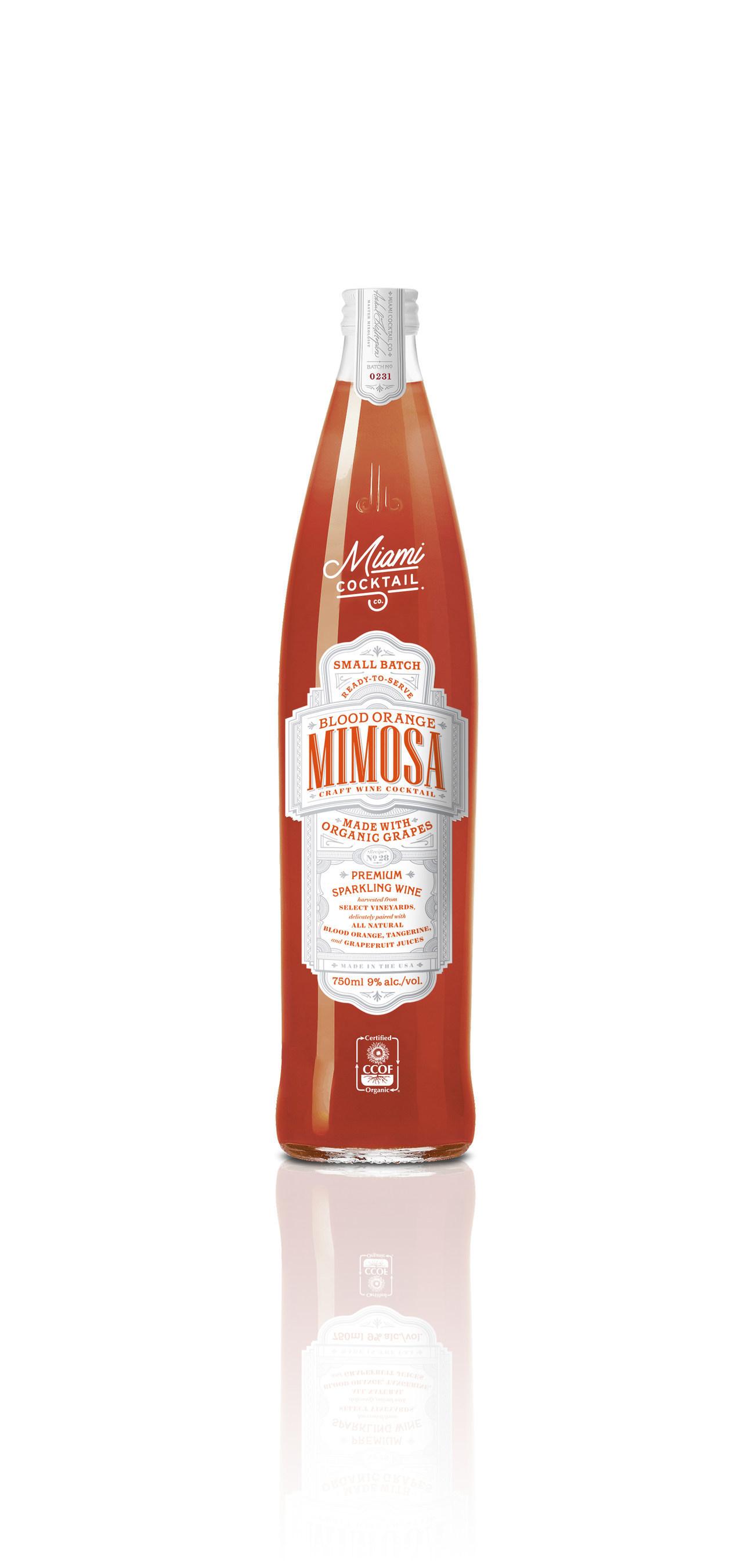 Miami Cocktail Co.'s New Organic Blood Orange Mimosa