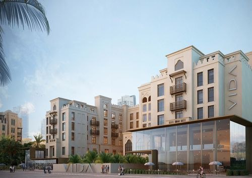 Artist impression of Vida Downtown Dubai