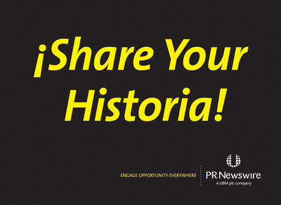 """PR Newswire, an official sponsor of Hispanicize 2013, invites conference attendees to tell their story and help inform a broader audience about the bicultural U.S. Latino community.  The campaign, """"Share Your Historia,"""" will kick off at the conference.  Hispanicize 2013 (http://www.HispanicizeEvent.com), the fourth annual Latino trends event, is taking place at the Eden Roc Hotel in Miami Beach, April 9-13. Hispanicize 2013 attendees can share their stories on site at the PR Newswire booth, booth #8, on video and via social media using Twitter hashtag #shareyourhistoria.  (PRNewsFoto/PR Newswire Association LLC)"""