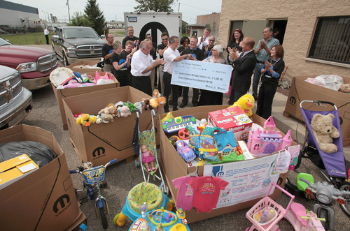 Mopar Delivers Baby Items and Cash Donation from The Chrysler Foundation to Southeast Michigan