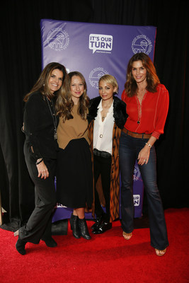 "Maria Shriver, Jennifer Meyer, Nicole Richie, and Cindy Crawford at ""It's Our Turn: Young Women's Conference at Brentwood School"" on Saturday, January 30, 2016, in Los Angeles, California. Created by Brentwood School students, It's Our Turn empowers young women to take charge of the future in positive ways that influence and inspire others. Almost 1,000 students from over 100 schools and organizations in the Los Angeles area took part in the day. Moloshok Photography, Inc."