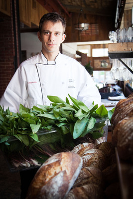 Executive Chef Chris Amendola of Fleet Street Kitchen has developed a passion for foraging.  Once spring arrives he can often be found combing the woods of Baltimore county in search of wild edibles to showcase in his dishes.  He guards his discoveries very closely, knowing that if harvested sustainably these plots can continue to produce incredible wild edibles.  Some of the items he forages for that land on the menu include: ramps, fiddleheads, berries, black walnuts and several varieties of mushrooms including morels, chanterelles, porcinis and hen of the woods, to name a few.  (PRNewsFoto/Fleet Street Kitchen)