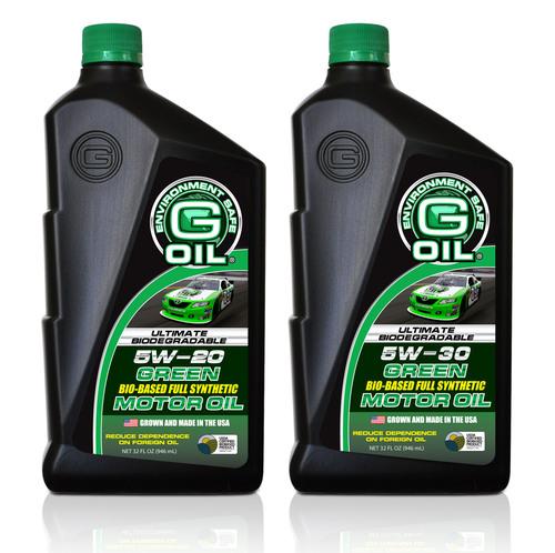 G-OIL 5W-20 & 5W-30.  (PRNewsFoto/Green Earth Technologies, Inc.)