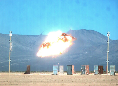 A Lockheed Martin GMLRS Alternative Warhead detonates on target during a flight test.