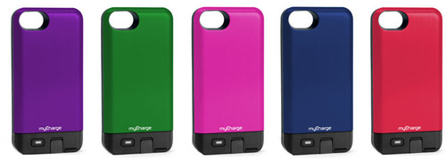New myCharge Freedom Case Colors: Violet, Emerald, Fuchsia, Cobalt, and Cherry.  (PRNewsFoto/myCharge)