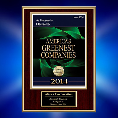 Altera ranks among top 25 greenest companies in U.S. (PRNewsFoto/Altera Corporation)