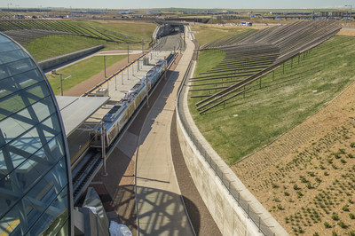 The University of Colorado A Line made its inaugural run from Denver Union Station to Denver International Airport (DEN) on April 22, 2016.