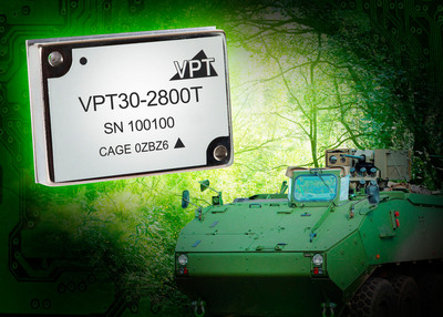 VPT's new 30W triple output converter meets military specifications including MIL-STD-1275.  (PRNewsFoto/VPT, Inc.)