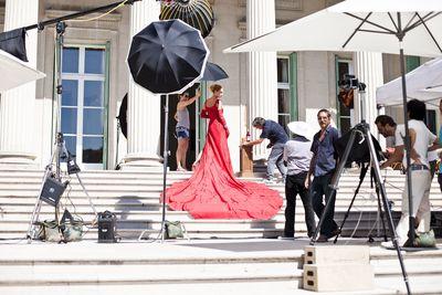 Campari Calendar 2014 – Worldwide Celebration. Star: Uma Thurman. Photographer: Koto Bolofo. Behind the scenes images by Francesco Pizzo.