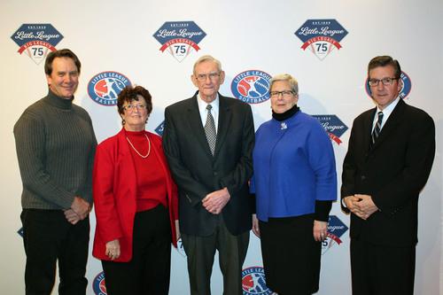 Little League Baseball Kicks Off 75th Anniversary Year in Williamsport, Pennsylvania, January 7, 2014: (Left to  ...