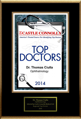 Dr. Thomas Ciulla is recognized among Castle Connolly's Top Doctors(R) for Indianapolis, IN region in 2014.  (PRNewsFoto/American Registry)