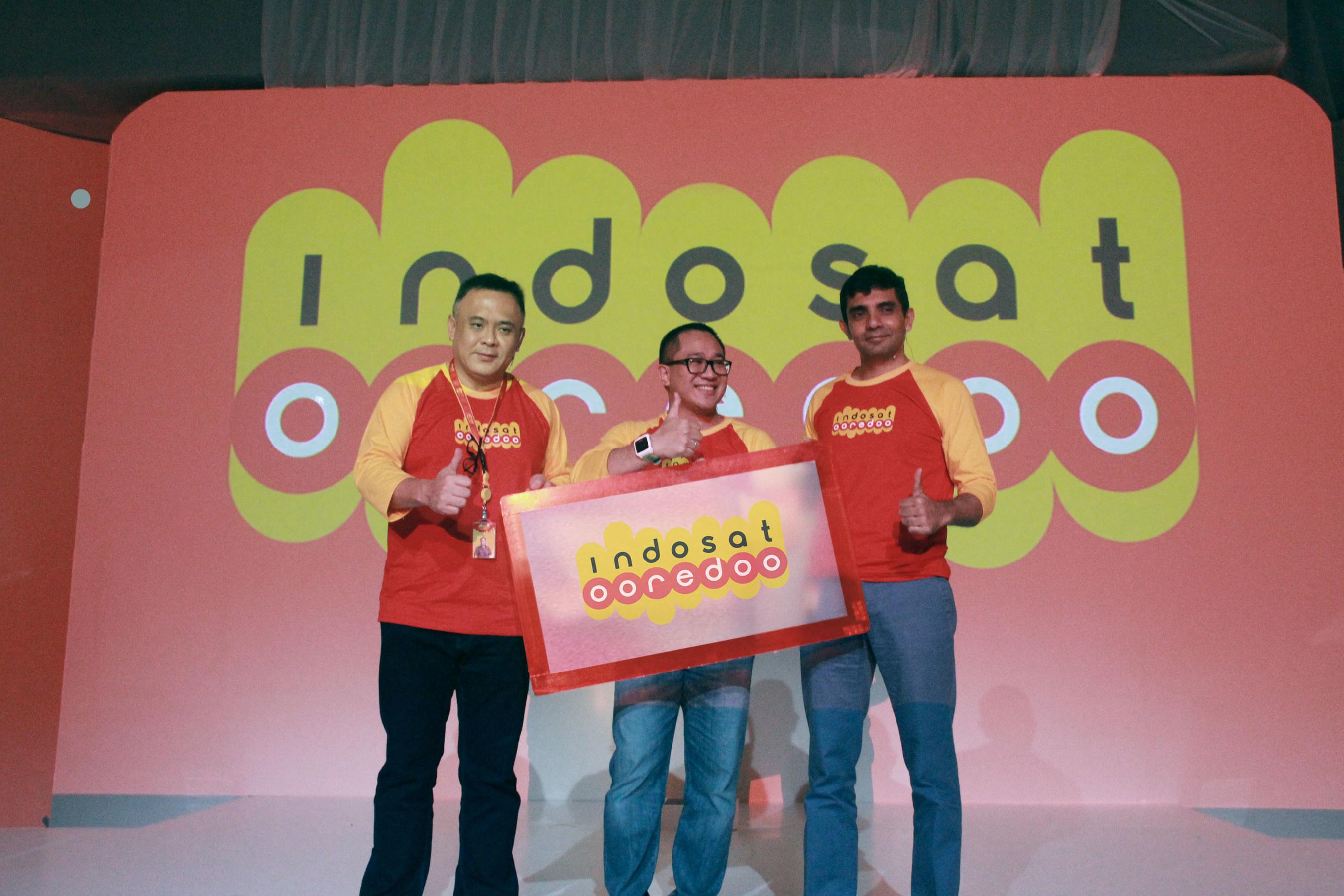 Alexander Rusli, Joy Wahyudi, Prashant Gokarn Launch Indosat Ooredoo
