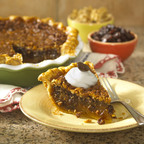 Chocolate Raisin Walnut Pie; created by Florida baker, Andrea Spring. Best in show in the professional category at the 2010 American Pie Council Crisco National Pie Championships. Recipe available at www.loveyourraisins.com.    (PRNewsFoto/California Raisin Marketing Board, Keith Seaman)