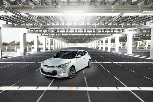 STYLE-FOCUSED VELOSTER RE:FLEX EDITION DEBUTS AT THE 2014 CHICAGO AUTO SHOW. (PRNewsFoto/Hyundai Motor America)  ...