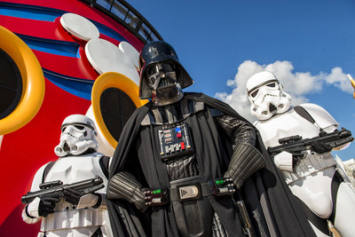 """In 2016, Disney Cruise Line guests can experience the legendary adventures and iconic characters from the Star Wars saga for the first time aboard a Disney Cruise Line ship in a brand-new, day-long celebration during eight special sailings: """"Star Wars Day at Sea."""" The event combines the power of the Force, the magic of Disney and the excitement of cruising for an out-of-this-galaxy experience unlike any other. (Matt Stroshane, photographer)"""