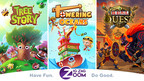 "Zig Zag Zoom, founded by former Disney Interactive executive, is a new kind of mobile game publisher with the mission ""to be a world leading network for mobile games that Entertains, Connects, and Empowers millions of daily users to Do Good!""Its first game to release is Tree Story, the mobile game that plants real trees."