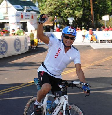 Dr. Joseph C. Maroon, 73, Chairman of the GNC Medical Advisory Board, trains for his 5th Ironman World Championship in Kona, Hawaii.  (PRNewsFoto/GNC)