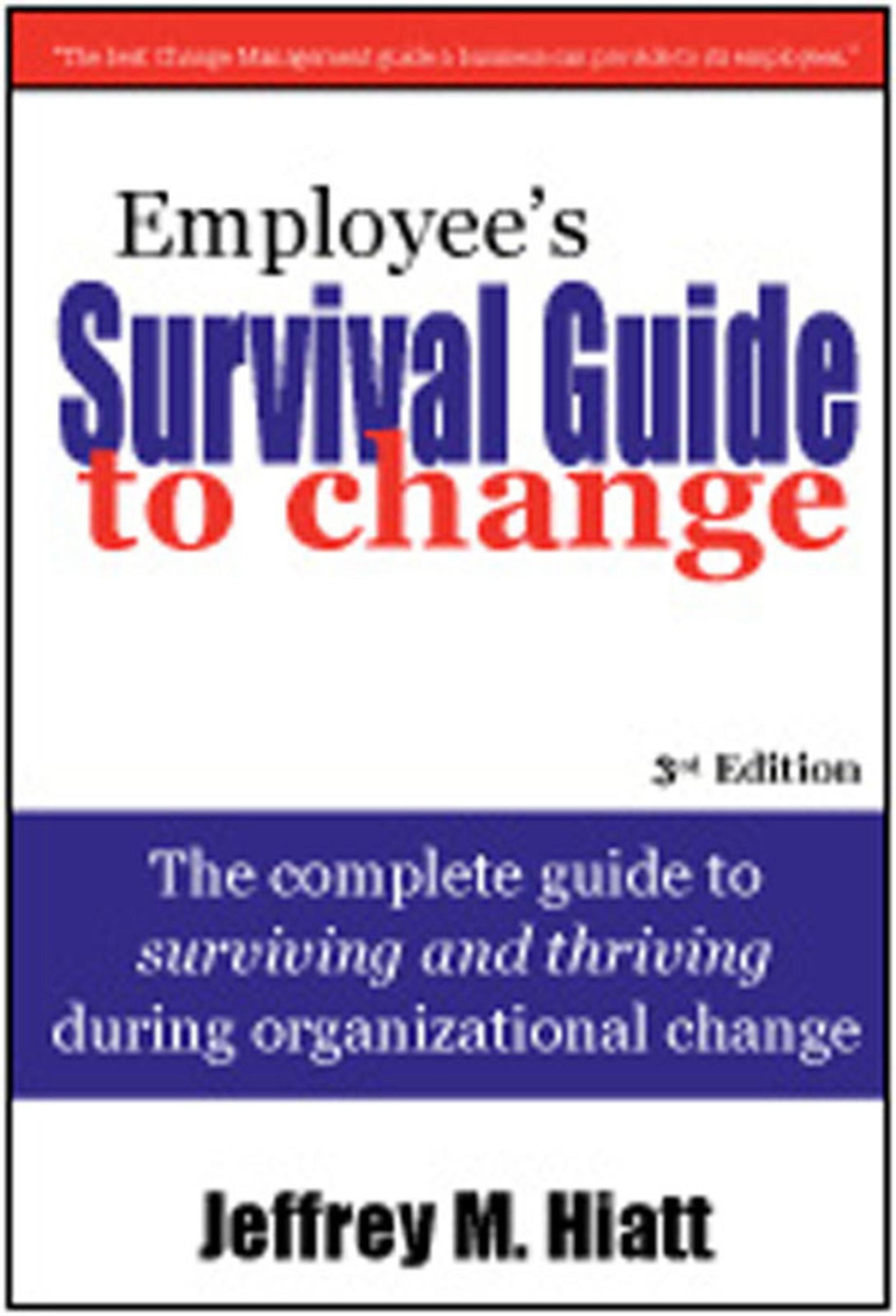 Employee's Survival Guide to Change Book Cover.  (PRNewsFoto/Prosci)