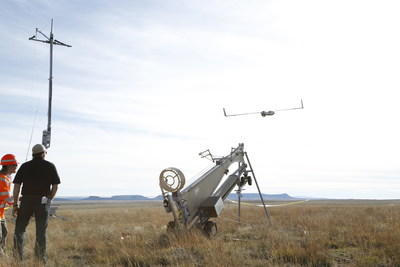 Insitu and BNSF officials launch ScanEagle in support of the FAA's Pathfinder initiative