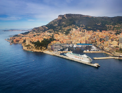 Crystal Cruises docked in Monte Carlo.  (PRNewsFoto/Crystal Cruises)