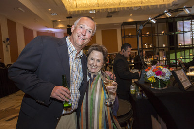 Todd Linsky, Organic Center Board Chair, with Alice Waters, keynote speaker