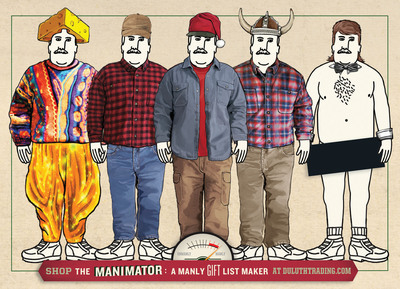 To make sure guys get what they truly want this holiday season, The Manimator gift list maker allows guests to dress a virtual man by mixing and matching Duluth Trading Company gear and a cheeky array of additional styling options.  (PRNewsFoto/Duluth Trading Company)