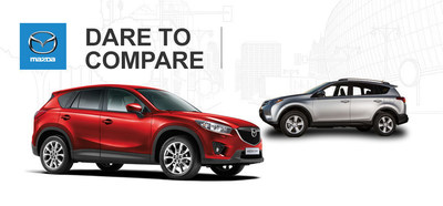 Ingram Park Mazda compares its 2015 Mazda CX-5 to the 2015 Toyota RAV4. (PRNewsFoto/Ingram Park Mazda)