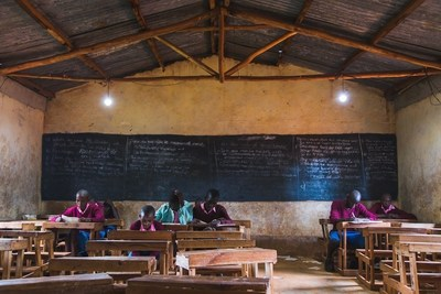 GivePower Foundation installs a solar energy system at Ngomeni Primary School in Ngomeni, Kenya.