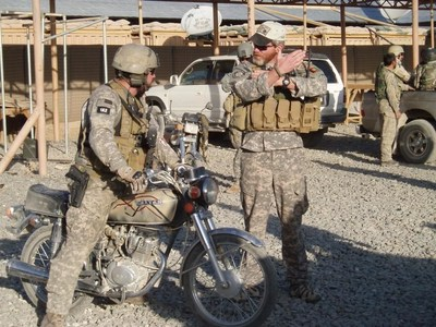 Levi Rodgers Preparing for a Mission, while in 7th Special Forces Group, Serving in Afghanistan.