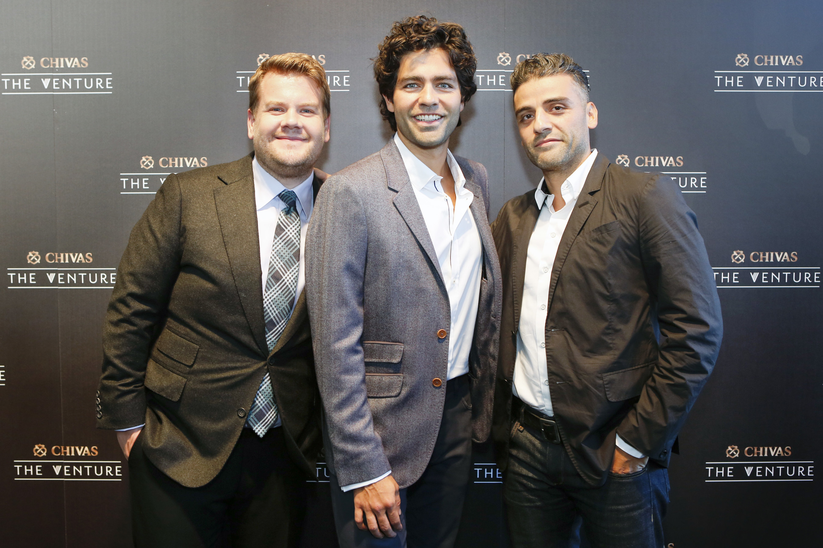 James Corden, Adrian Grenier and Oscar Issac at The Venture