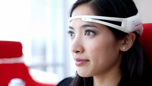 Emotiv Insight, a 5 channel, wireless headset that records brainwaves and translates them into meaningful data. (PRNewsFoto/Royal Philips)
