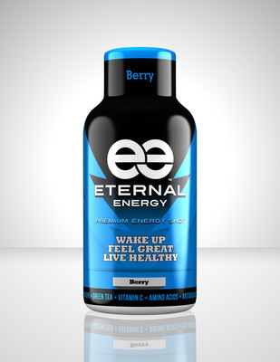 A berry flavor bottle of Eternal Energy Shot. Eternal Energy Shot is now available nationwide at Walmart for only 88 cents.  (PRNewsFoto/LXR Biotech, LLC)