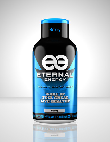A berry flavor bottle of Eternal Energy Shot. Eternal Energy Shot is now available nationwide at Walmart for ...