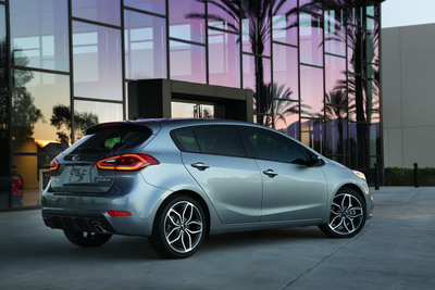 Kia today unveiled the all-new 2014 Forte 5-door at the Chicago Auto Show.  (PRNewsFoto/Kia Motors America)
