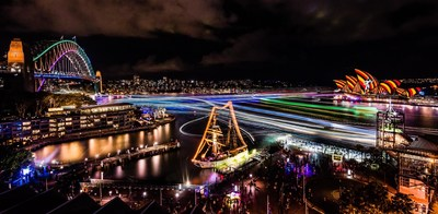 Vivid Sydney 2016 - Sydney Harbour credit Destination NSW