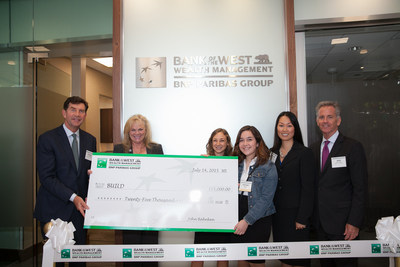 Bank of the West donates $25,000 to BUILD, a nonprofit dedicated to helping youth from under-resourced communities attain high school, college, and career success.