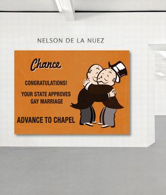 """Love Wins:"" Hand Painted 1 of a Kind on Canvas, King of Pop Art Nelson De La Nuez"