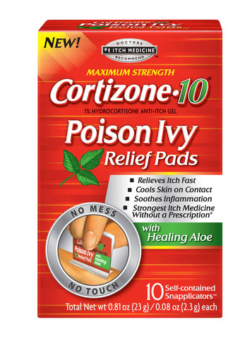 Treating Poison Ivy Is A 'Snap!' New Cortizone 10 Poison