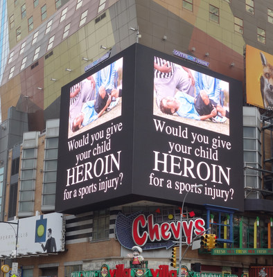 National campaign launched in Times Square to empower parents to challenge their doctor before their child is prescribed pain medicine. Campaign drives home the link between Rx Abuse and Heroin Abuse