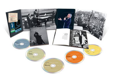 Set for worldwide release on October 21 by UMe and Frank Sinatra Enterprises, 'World On A String' is a portrait of the iconic American entertainer in his prime on international stages. As a time capsule of Sinatra's enduring appeal across the globe, the 4CD/DVD box set (also available in digital audio) is a treasure trove of live recordings from 1953 to 1982, totaling more than four hours of previously unissued audio and video footage.