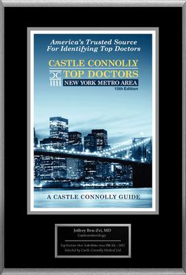 Dr. Jeffrey Ben-Zvi, Gastroenterology, is named a Top Doctor: New York Metro Area.  (PRNewsFoto/American Registry)