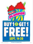 "The world's largest convenience retailer is starting the fall season strong with a weeklong ""Share a Slurpee"" drink offer. The Buy One-Get One Free deal runs every day from Monday, Sept. 14, through Sunday, Sept. 20."