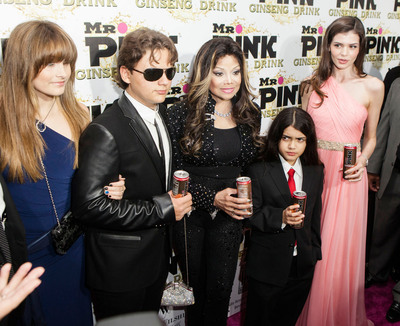 The Jackson kids step out for the star-studded Mr. Pink Ginseng Launch in Beverly Hills.   (PRNewsFoto/Mr. Pink Ginseng Drink)