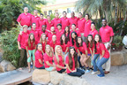 Pictured Above: Tropicana Student Living Residence Life Team for the 2013-2014 academic year in their staff shirts featuring the new Tropicana Student Living logo.  (PRNewsFoto/Tropicana Student Living)