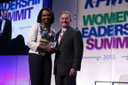 "KPMG Global Chairman John Veihmeyer presents Condoleezza Rice with the inaugural ""Inspire Greatness Award"" at yesterday's KPMG Women's Leadership Summit."