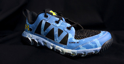 """LINE-X Protective Coatings Used for New Under Armour """"Water Spider"""" Shoe. (PRNewsFoto/LINE-X Protective Coatings) (PRNewsFoto/LINE-X PROTECTIVE COATINGS)"""