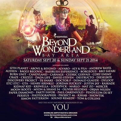 Insomniac Unveils Lineup For 3rd Annual Beyond Wonderland, Bay Area. (PRNewsFoto/Insomniac) (PRNewsFoto/Insomniac)