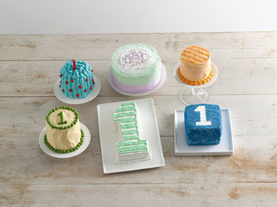 From mini cakes in cute shapes to bright colors and fun textures, Betty Crocker has just the smash cake to celebrate baby's first birthday in style!.  (PRNewsFoto/Betty Crocker)